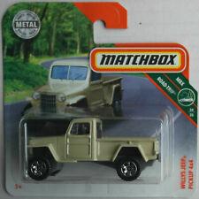 Matchbox Jeep Willys 4x4 Pickup beige Neu/OVP Geländewagen Allrad Auto Car MBX