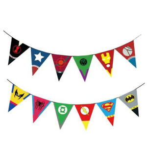 The Avengers Superhero Buntings Banner Birthday Garlands Party Decoration Decor