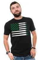 USA Weed Flag Cannabis T-shirt Marijuana Day T shirt Cannabis Leaf Weed Shirts