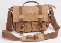 BBK-2 Canvas DSLR Camera Padded Carry Shoulder Bag For Canon EOS 600D 550D 500D