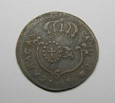 1817 SMALL DATE CARACAS 1/4 REAL RARE COPPER VENEZUELA COIN EXCELLENT GRADE