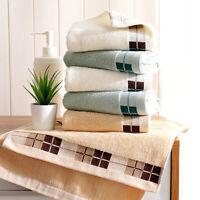 Cotton Women Face Hand Towels Plaid Bathroom Towels Soft Skin-Friendly H