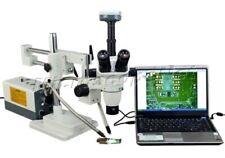 Amscope 2x 270x Zoom Stereo Trinocular Boommicroscope90mp Usb Camera Dual Bar