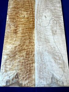 #360 Quilted Maple Drop Top Figured Tonewood Luthier Bookmatched set