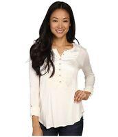Lucky Brand Women's Long Sleeve Velvet Top~~Ivory~~XS S M L XL~~NWT~~Retail $59