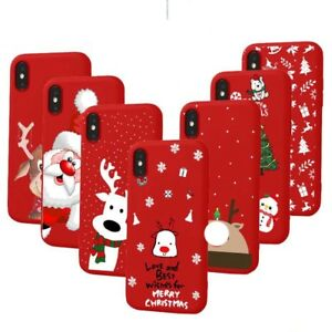 Soft Silicone Christmas Phone Case Cover Apple iPhone 12 11 Pro Max XR X XS 8 7