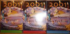 Jahressammelmappen 2001 UNO Wien - Genf - New York KOMPLETT