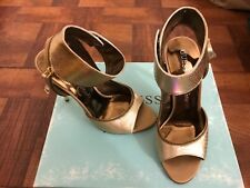 NIB MARCIANO GUESS SHOES SNAKE SKIN LEATHER HIGH HEELS GOLD SIZE 5.5