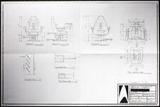 STAR TREK REPRO 1996 FIRST CONTACT CAPTAINS CHAIR ARTWORK BLUEPRINTS . NOT DVD