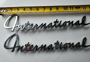 1960's Pickup,, Travelall, Loadstar, INTERNATIONAL HARVESTER RARE Emblems PAIR