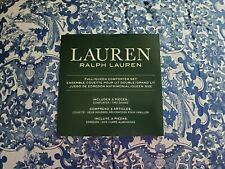 NEW RALPH LAUREN PORCELAIN BLUE BIRDS FULL QUEEN COMFORTER & PILLOW SHAMS