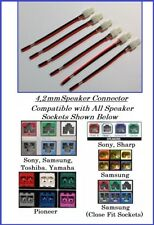 6x 4,2mm Home Theater Economy HT Speaker Connectors Sammsung, Sonny, Yammaha