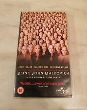 BEING JOHN MALKOVICH VHS PAL VIDEO SPIKE JONZE JOHN CUSACK CAMERON DIAZ