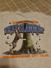 Bluetick Coonhound Gray Pocket Shirt Size Small (Front Print) (Not Perfect)