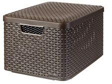 Curver Style L - Storage Boxes Baskets (storage Basket Brown Rattan Monotone
