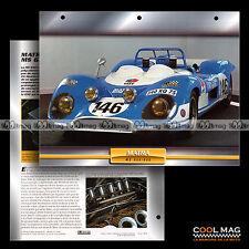 #108.08 ★ MATRA MS 630/650 1968 ★ Fiche Auto Car card