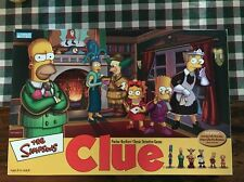The Simpsons Clue 2nd Edition Parker Brothers 2002 Board Game Read Description