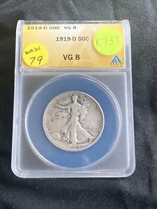 1919-D Liberty Walking Half Dollar K737
