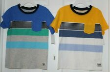 (2)BOYS SZ 4 SHORT SLEEVE, STRIPED TEE SHIRTS BY OSH KOSH-NEW WITH TAGS