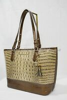 NWT Brahmin Medium Asher Leather Tote/Shoulder Bag Barley Bronte - Beige Brown