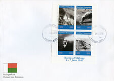 More details for madagascar 2019 fdc wwii ww2 battle of midway 4v m/s cover ships military stamps