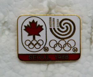 Canadian Olympic Committee for Seoul 1988 badge