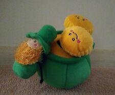 Zippy Paws Burrow Puzzle Plush Pet Dog Toys Pot of Gold Coins Leprechaun NEW NWT