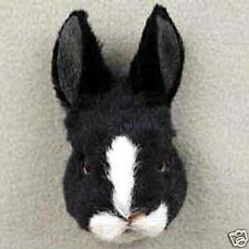 (3) LITTLE RABBITS: BLACK, WHITE & TAN RABBITS-Fur Magnets