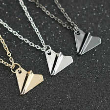 Combo Black+Silver+Gold Small Band Harry Style Air Paper Plane Pendant Necklace