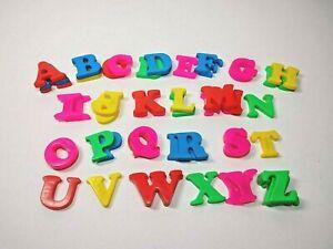 Vintage Fisher Price Color Fridge Magnet Alphabet Lot Complete Set with Extras
