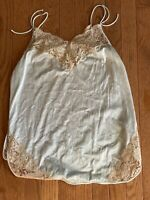 Vintage  vanity fair Blue And Lace Overlay Camisole Size Not Listed