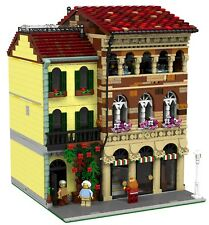 LEGO Modular Florentine Steakhouse MOC instructions 10182 10190 10185 10197