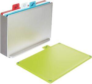 Joseph Joseph 60131 Index Hygiene Chopping Board Set Regular Silver Set of 4 NEW