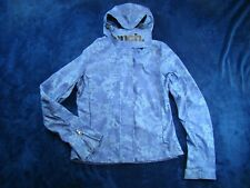 BENCH Women's Hooded Full Zip Blue Lightweight Rain Jacket Windbreaker Small