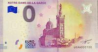 BILLET 0  EURO NOTRE DAME DE LA GARDE MARSEILLE FRANCE   2018  NUMERO 100