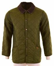 BARBOUR Mens Quilted Jacket Size 36 Small Green Liddesdale W205