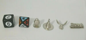 Harry Potter Scene It? 1st Edition Replacement Pieces 4 Metal Tokens W dice