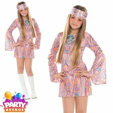 Disco Diva 1970s Retro Girls Costume Fancy Dress12/14yrs