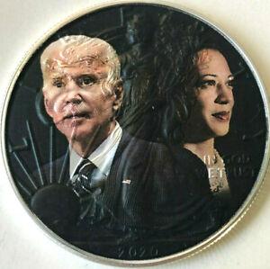 Joe Biden Kamala Harris -  American Silver Eagle 1oz .999 Silver Dollar Coin