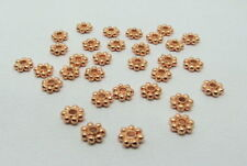 30 Pieces DaisySpacer Bali Beads Rose Gold Plated 6mm Round