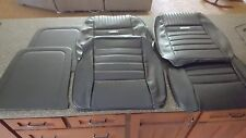 Deluxe PONY Bucket Seat Upholstery Black 1964 1965 1966 Ford Mustang (Fronts)