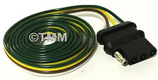 """48"""" Vehicle End Trailer Wire Plug Boat Camper Flat 4-Way Female Wiring Connector"""