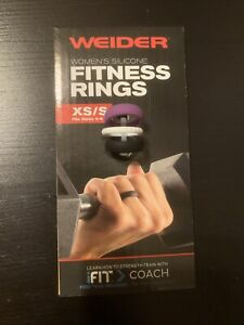 Weider Women's Silicone Fitness Rings (XS/S Fits Sizes 4-6) 3 Total Rings