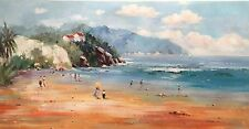 Beach,Original Oil Painting by N. Knox, 122 x  61cm