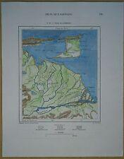1893 Perron map DELTA OF ORINOCO (VENEZUELA) AND TRINIDAD (#29)