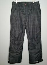 Columbia Thermal Omni Heat Black Windowpane Ski Snowboard  Pants Size Large