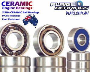 Nitro Engine Bearings Kits - Front & Rear Crank Bearings - Ceramic Hybrid Steel