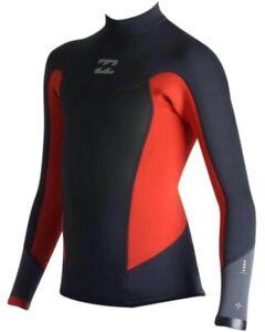 New $80 Billabong Absolute Comp 202 2mm Wetsuit Jacket Orange Size Boys 16