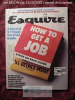 ESQUIRE July 1977 Get a Job Reggie Jackson Lesley-Anne Down Cleveland Amory