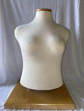 Vintage Tabletop Dress Form Female Mannequin Adjustable Height